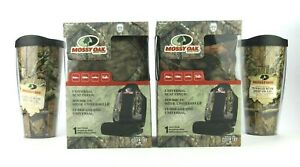 Two pack Mossy Oak Camo Seat Covers Travel Mugs Coffee Tumblers 2 pack