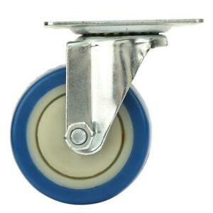 4pcs 3 Inch Blue Core Swivel Casters Wheels For Trolley Furniture Dining Car