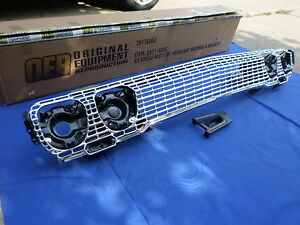New 1963 Impala Belair Biscayne Front Grill W Brackets Housings Oer Parts