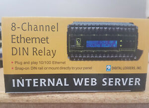 8 Channels Relay Board With Clips For Din Mount Rail