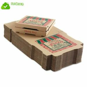 Corrugated Pizza Boxes 12w X 12d X 1 3 4h Kraft 2 Units Food Container Type