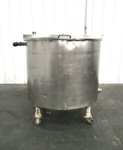 Mo 2993 Stainless Steel 230 Gallon Mix Tank On Casters 304 Ss