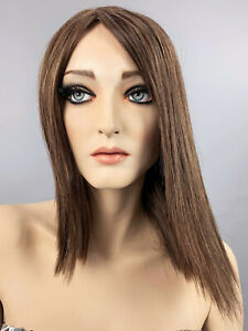 Rootstein Hardcap Mannequin Wig Razor Cut Light Brown Bob Patina Vtg Hard Cap