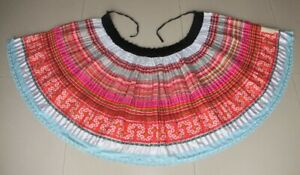 Vintage Tribal Exotic Chinese Minority People S Hand Batik Embroidery Skirt