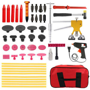 52pc Auto Body Tools Paintless Dent Repair Dent Puller Hail Removal Tool Set