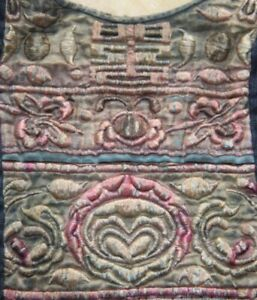 Tribal Exotic Chinese Ethnic Minority People S Old Hand Embroidery