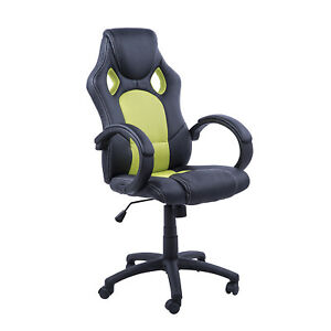 Racecar Style Office Gaming Chair Executive Adjustable Computer Desk Swivel Seat
