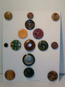 Antique Buttons Large Vintage Celluloid Buttons Nicely Carded Collection