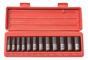 Tekton 3 8 Inch Drive Deep Impact Socket Set Inch Cr V 6 Point 5 16 Inch 1