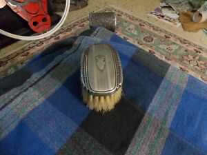 Antique Sterling Silver Clothes Brush Vanity Cute Display Item 3 Vg