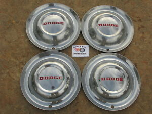 1952 Dodge Coronet Meadowbrook Diplomat 15 Wheel Covers Hubcaps Set Of 4