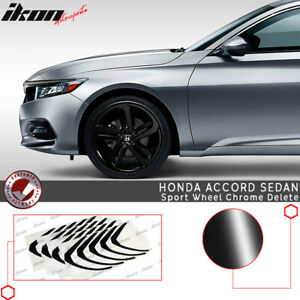 Fits 18 19 Honda Accord Sport Wheel Chrome Delete Vinyl Kit Gloss Black