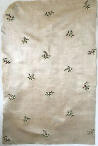 Beautiful Antique 18th C French Silk Satin Hand Embroidery 2685