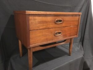 Mid Century Modern Walnut Nightstand Vintage Dixie 1960 S Local Pickup Only Nj