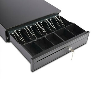 Cash Drawer Box Works Compatible Epson Pos Printers W 5bill 5coin Tray