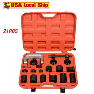 21pc Ball Joint Auto Repair Tool Service Remover Installer Master Adapter Kit Us
