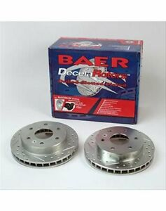 Baer Holdings Brake Rotors Cross Drilled Slotted Iron Zinc Front Fits Jeep Pair