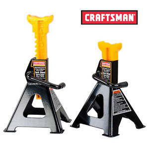 Craftsman 4 Ton Steel Jack Stands For Heavy Car Capacity Brand New