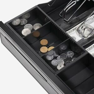 Electronic Cash Drawer Manual Cash Register Pos Tray 5 Bill 5 Coins Money Box Dl
