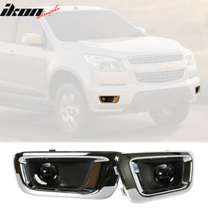 Fits 04 12 Gmc Canyon Chevy Colorado Assembly Fog Lights Lamps In Pair