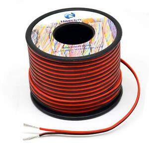 20 Awg Silicone Electrical Wire 2 Conductor Parallel Wire Line 200ft black 100f