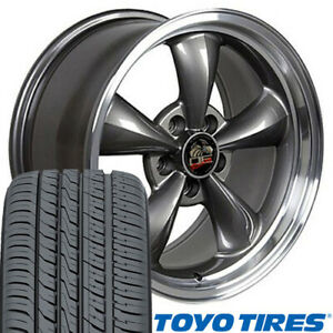 17x9 17x10 5 Anthracite Bullitt Wheels Tires Set Of Rims Fit Mustang Gt Oew
