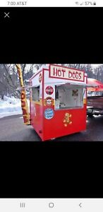 Hot Dog Stand in Mobile Food Cart Catering Trailer Kiosk Stand Mobile Kitchen