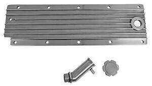 Engine Valley Cover Aluminum Polished Finned Chevy Small Block Ls Each