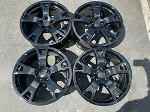 Four 2018 Maserati Levante Factory 20 Wheels Oem Rims New Gloss Black Powdercoat