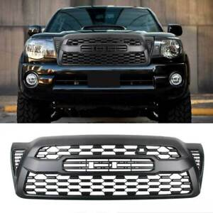 Black Grille For 2005 2011 Toyota Tacoma Hood Bumper With Letters