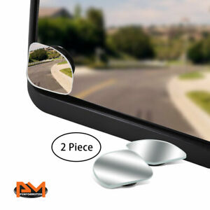 Pair Adjustable Blind Spot Mirror Corner Style Convex Back Rear 2 Side View 2