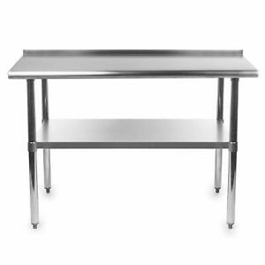New Gridmann Nsf Stainless Steel Commercial Kitchen Prep Work Table 48 X 24 In