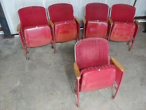 10 Vintage 50 S Theater Chair Seating Antique
