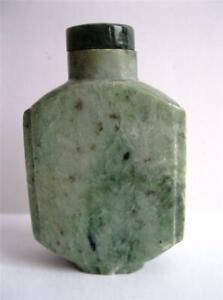 Antique Carved Jade Snuff Bottle W Appraisal For 350 500 100 Years Old