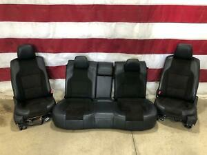 2010 2012 Ford Taurus Leather suede Heated Cooled Seat Set front rear Oem