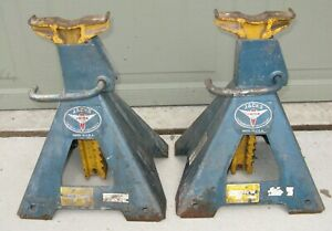 2 Quality Usa Made Lincoln 5 Ton 10 000 Ratchet Type Vehicle Jack Stands