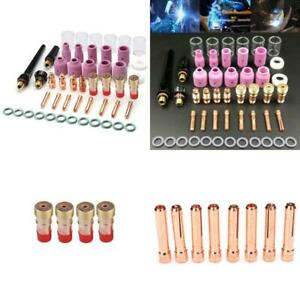Velidy 49pcs Tig Welding Torch Stubby Gas Lens 10 Pyrex Glass Cup Kit For Wp 17