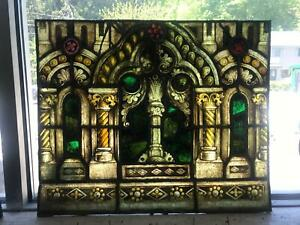 Beautiful Antique Mayer Of Munich Stained Glass Window From A Closed Church Jj