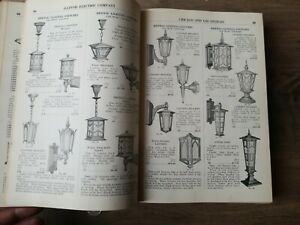 Vtg 1920s Electric Supply Catalog Fairies X Ray Industrial Lamp Shade Fixtures