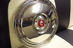 1955 1956 Ford T Bird New Set Of 4 Wheel Covers W Medallions Show Condition