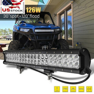 Fit Ford F150 09 14 Hidden Lower Bumper Grille 126w Led Light Bar 20 4wd Suv