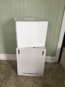 Permacool Styrofoam Shipping Cooler With Box 12 1 4 X 14 1 4 X 11 3 4 Insulated