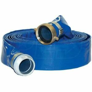 Apache Hose 2 X 50 Pvc Lay Flat Discharge Hose 98138045 New Free Shipping