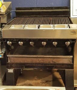 Baker s Pride Ch 6 36 Gas Log Wood Grill Char broiler 6 Burner Radiant