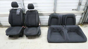 2015 2018 Ford Mustang Ecoboost Black Cloth Front And Rear Seats As Is Oem 28