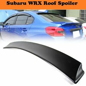 D Type Unpainted Rear Window Roof Lip Spoiler Wing For Subaru Wrx Sti 2015 2020