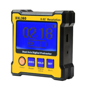Dxl360 Digital Protractor Inclinometer Dual Axis Level Measure Angle Meter