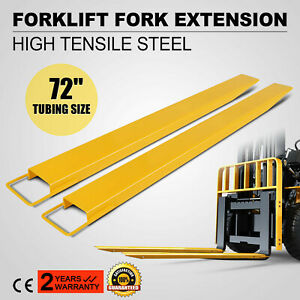 72x5 8 Forklift Pallet Fork Extensions Pair 2 Fork Thickness Strength