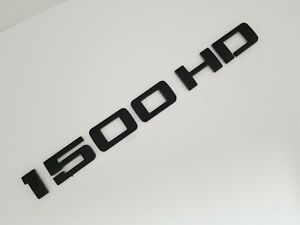 Black 1500hd Fit Chevy Rear Trunk Tailgate Emblem Chevrolet Nameplate Badge