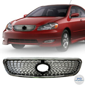 Fits For 2003 2008 Toyota Corolla Front Grill Chrome Diamond Style Grille